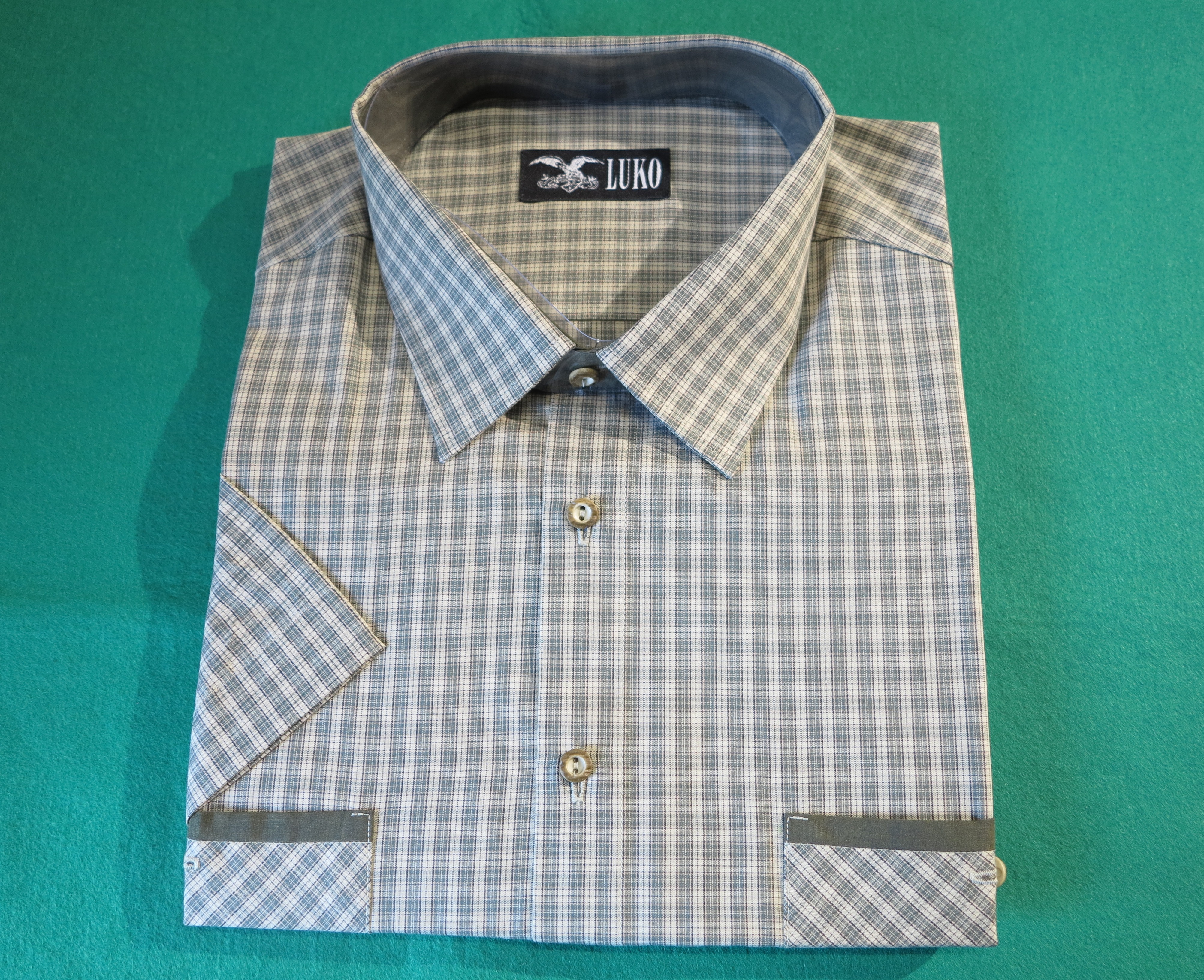 7dcccb46da6 Pánská košile Luko 134126 krátký rukáv vel.41 - Myslivecké a lovecké ...